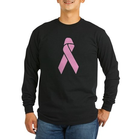 Pink Ribbon Long Sleeve Dark T-Shirt