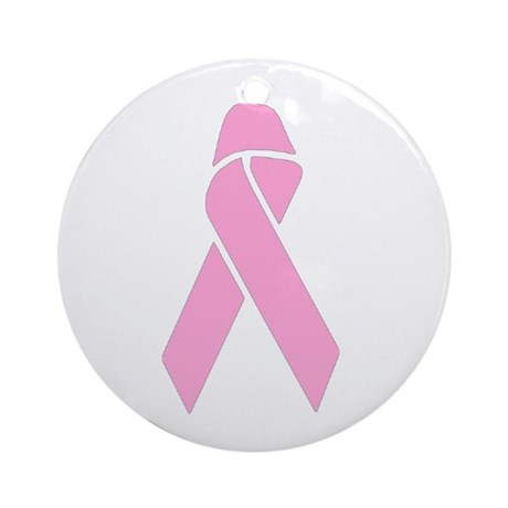 Pink Ribbon Ornament (Round)