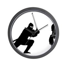 Cello-Ninja-01-a Wall Clock