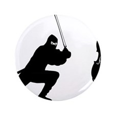 "Cello-Ninja-01-a 3.5"" Button"