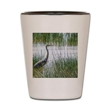 grey heron kenya collection Shot Glass