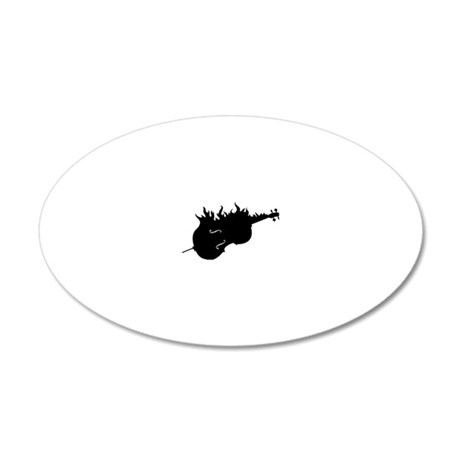 Flamed-Cello-01-a 20x12 Oval Wall Decal