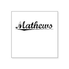 "Mathews, Vintage Square Sticker 3"" x 3"""