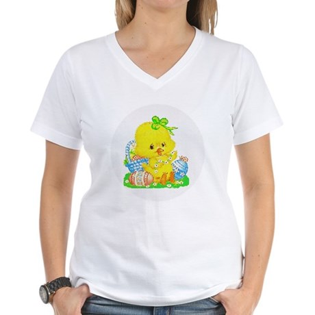 Easter Duckling Women's V-Neck T-Shirt
