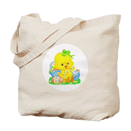 Easter Duckling Tote Bag