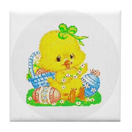 Easter Duckling Tile Coaster