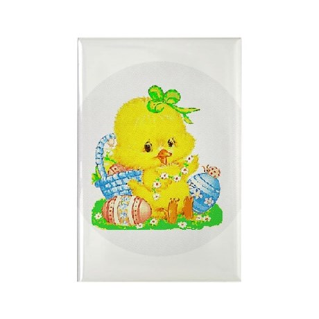 Easter Duckling Rectangle Magnet (100 pack)