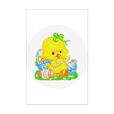 Easter Duckling Mini Poster Print
