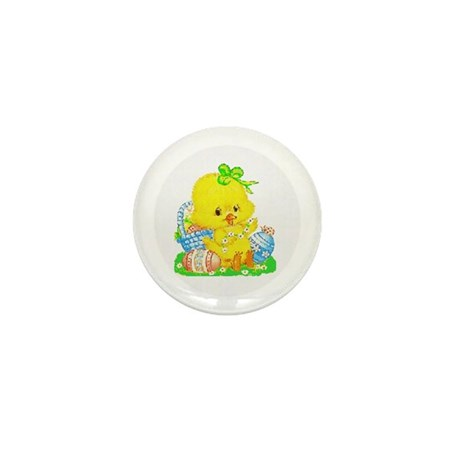 Easter Duckling Mini Button