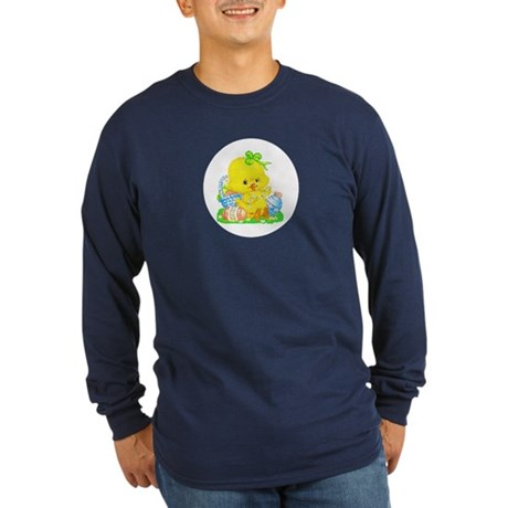 Easter Duckling Long Sleeve Dark T-Shirt