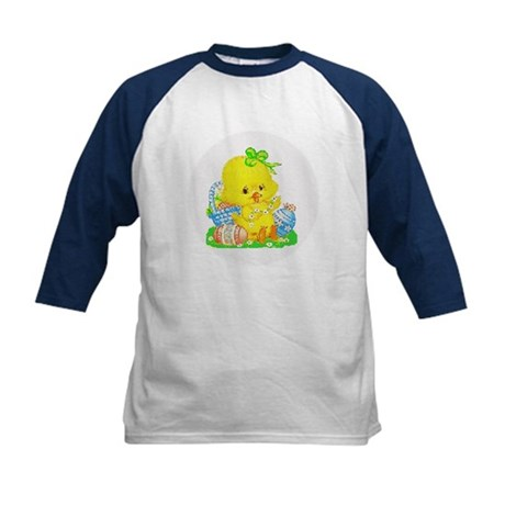 Easter Duckling Kids Baseball Jersey