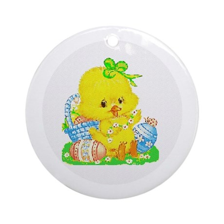 Easter Duckling Ornament (Round)