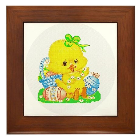 Easter Duckling Framed Tile