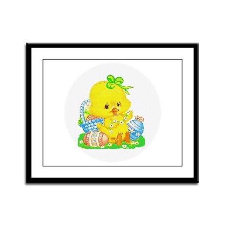Easter Duckling Framed Panel Print