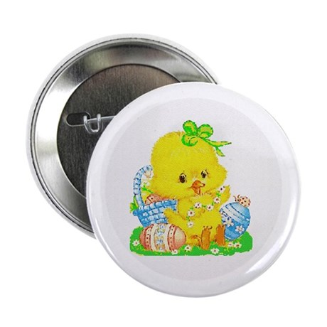 Easter Duckling Button