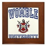 WOMBLE University Framed Tile