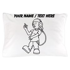Custom Kid Listening To Music Pillow Case