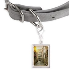 Buildings and bridge on urb Small Portrait Pet Tag