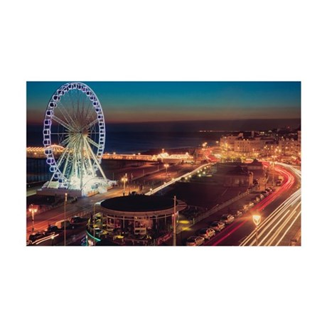 Brighton wheel and seafront lit u 35x21 Wall Decal
