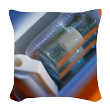 Nicotine inhaler and nicotine- Woven Throw Pillow