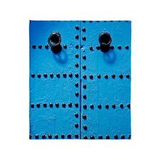 Blue Moroccan Door Throw Blanket