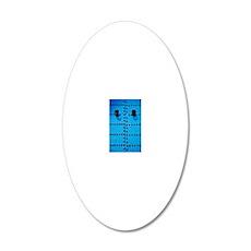 Blue Moroccan Door 20x12 Oval Wall Decal