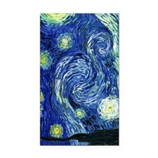Van Gogh Starry Night Rectangle Car Magnet