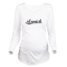 Munich, Vintage Long Sleeve Maternity T-Shirt
