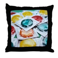 Packaged condoms Throw Pillow