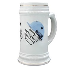 Two cricket helmets facing each other , stud Stein