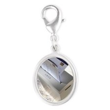 h1001326 Silver Oval Charm