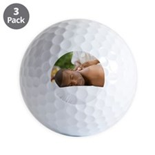 Young man having a back massage Golf Ball