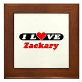 I Love Zackary Framed Tile