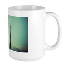 Industrial chimneys emitting clouds of  Mug