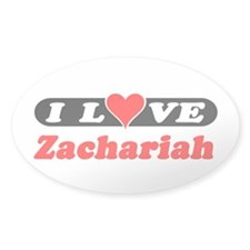 I Love Zachariah Oval Decal