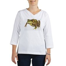 Digital illustration of Green F Women's Long Sleeve Shirt (3/4 Sleeve)