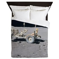 lunar vehicle on the surface of the mo Queen Duvet