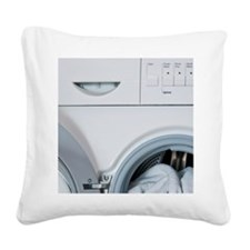Washing machine with laundry  Square Canvas Pillow