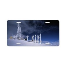 Towers at power station Aluminum License Plate