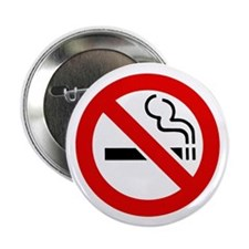 "No Smoking Symbol 2.25"" Button (100 pack)"