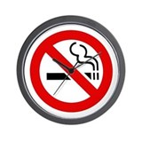 No Smoking Symbol Wall Clock