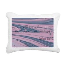 John 8:32 Rectangular Canvas Pillow