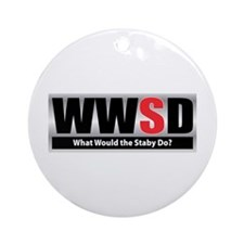 WW the Staby D Ornament (Round)
