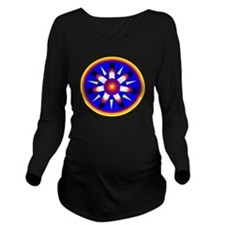 EAGLE FEATHER MEDALL Long Sleeve Maternity T-Shirt