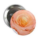 Peach Rose Button