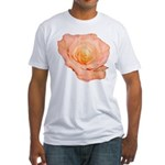 Peach Rose Fitted T-Shirt