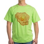 Peach Rose Green T-Shirt