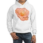 Peach Rose Hooded Sweatshirt