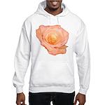 Peach Rose Hooded Sweatshirt