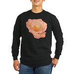 Peach Rose Long Sleeve Dark T-Shirt